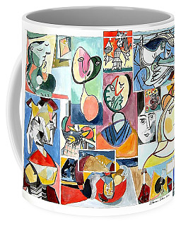 Deconstructing Picasso - Women Sad And Betrayed Coffee Mug