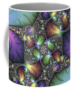 Decorative Abstract Fractal Art With Jewel Colors Coffee Mug