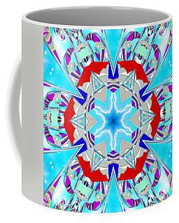 Deep Blue Geometry Coffee Mug
