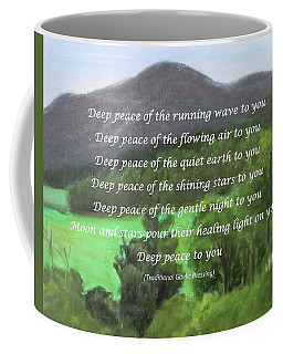 Deep Peace With Ct River Valley Coffee Mug