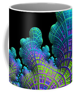 Coffee Mug featuring the digital art Deep Sea Coral by Susan Maxwell Schmidt
