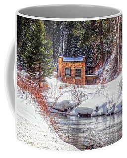 Deep Snow In Spearfish Canyon Coffee Mug by Lanita Williams