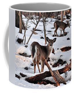 Deer And Snow Coffee Mug