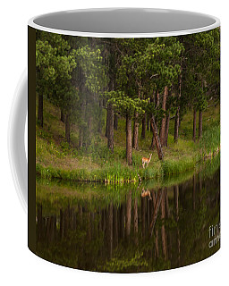 Deer In The Mist Coffee Mug