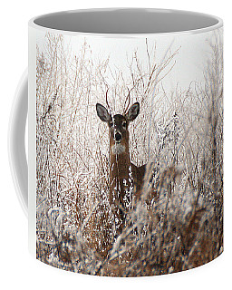 Deer In Winter Coffee Mug