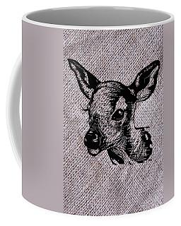 Deer On Burlap Coffee Mug