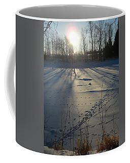 Deer Tracks On The River Coffee Mug by Kent Lorentzen