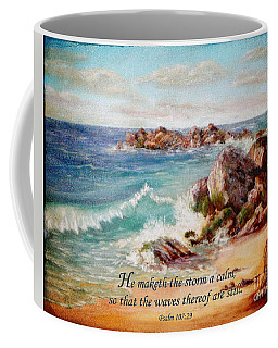 Deerfield Wave Psalm 107 Coffee Mug