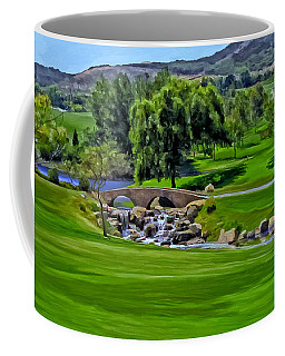 Coffee Mug featuring the painting Del Mar Country Club by Michael Pickett
