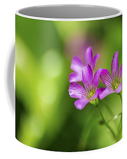 Coffee Mug featuring the photograph Delicate Purple Wildflowers by Leigh Anne Meeks