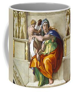 Coffee Mug featuring the painting Delphic Sybil by Michelangelo di Lodovico Buonarroti Simoni
