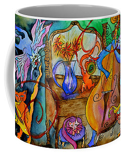 Demon Cats Coffee Mug by Beverley Harper Tinsley
