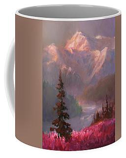 Denali Summer - Alaskan Mountains In Summer Coffee Mug by Karen Whitworth