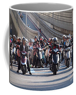 Dense Scooter Traffic In Taiwan Coffee Mug