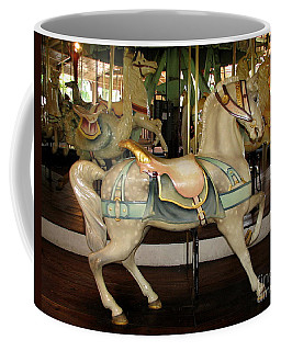 Coffee Mug featuring the photograph Dentzel Menagerie Carousel Horse by Rose Santuci-Sofranko