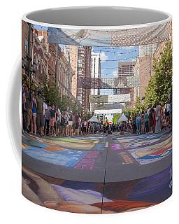 Denver Chalk Art Festival At Larimer Square 2014 Coffee Mug