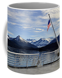 Departing Auke Bay Coffee Mug by Cathy Mahnke
