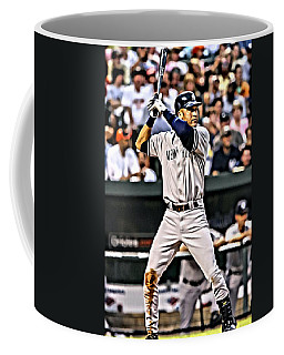 Derek Jeter Painting Coffee Mug