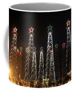 Derricks Under A Full Moon Coffee Mug