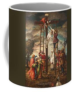 Descent Of The Cross Oil On Panel Coffee Mug