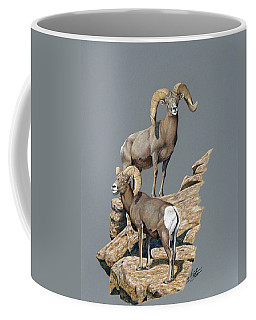 Desert Bighorn Rams Coffee Mug