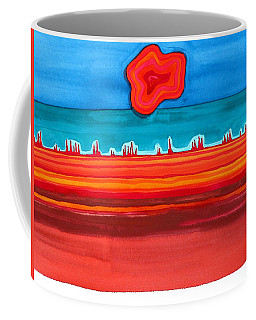 Desert Cities Original Painting Sold Coffee Mug