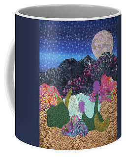 Coffee Mug featuring the tapestry - textile Desert Dreaming by Ellen Levinson