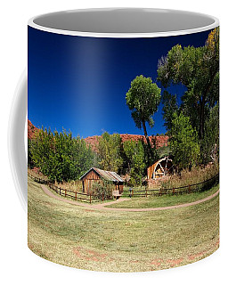 Coffee Mug featuring the photograph Desert Field by Dave Files
