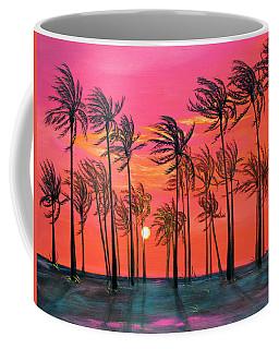 Desert Palm Trees At Sunset Coffee Mug