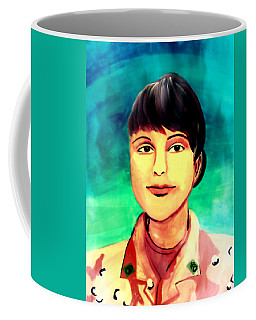 Coffee Mug featuring the painting Desert Storm Jennifer by Michelle Dallocchio
