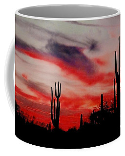 Desert Sunset Northern Lights Version 3 Coffee Mug