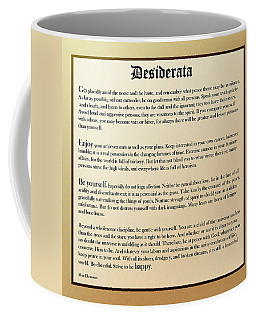 Desiderata Old English Square Coffee Mug