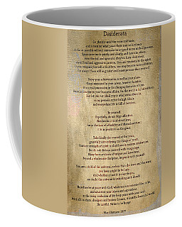 Desiderata - Scrubbed Metal Coffee Mug