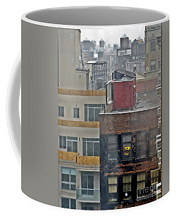 Coffee Mug featuring the photograph Desk Lamp Through Lit Window by Lilliana Mendez