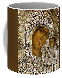 Detail Of An Icon Showing The Virgin Of Kazan By Yegor Petrov Coffee Mug