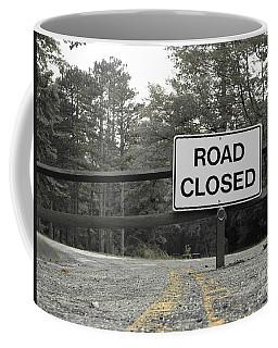Coffee Mug featuring the photograph Detour by Michael Krek