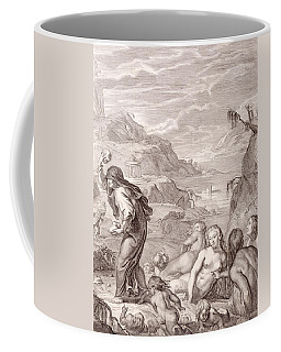 Deucalion And Pyrrha Repeople The World By Throwing Stones Behind Them Coffee Mug
