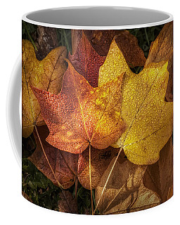 Dew On Autumn Leaves Coffee Mug