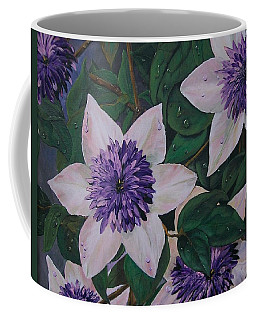 Clematis After The Rain Coffee Mug