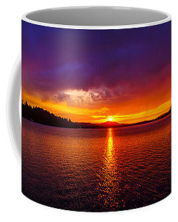 Dexter Lake Oregon Sunset 2 Coffee Mug
