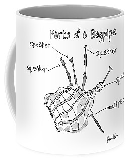 Diagram Entitled Parts Of A Bagpipe Coffee Mug