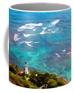 Diamond Head Lighthouse View Coffee Mug