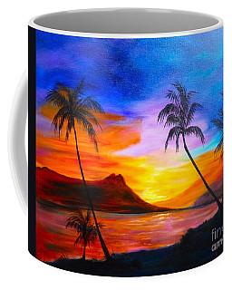 Diamond Head Sunset 11 Coffee Mug by Jenny Lee