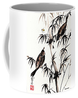 Coffee Mug featuring the painting Dibs by Bill Searle