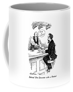 Dickens' First Encounter With A Martini Coffee Mug