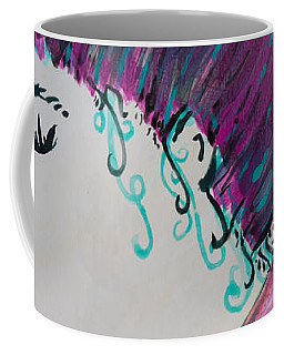 Coffee Mug featuring the painting Did You See Her Hair by Jacqueline Athmann
