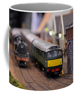 Diesel Electric Model Train Railway Engine Coffee Mug
