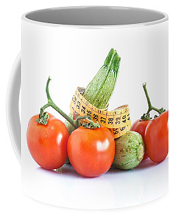 Diet Ingredients Coffee Mug by Antonio Scarpi