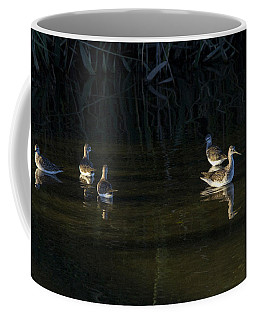 Digital Oil Of Sandpipers Coffee Mug