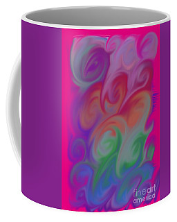 Digital Swirls Coffee Mug by M West
